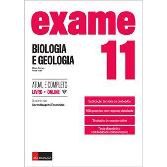 Exame Biologia e Geologia 11.º Ano