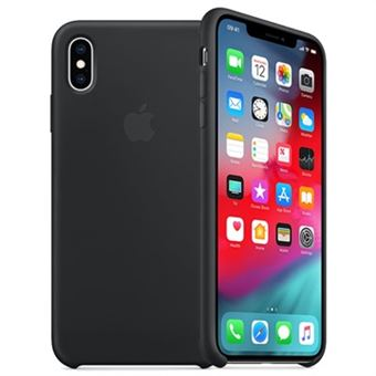 Capa Silicone Apple para iPhone XS - Preto