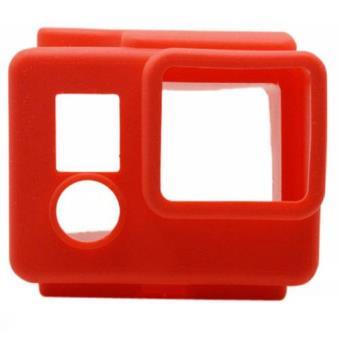 New Mobile Capa Silicone Vermelho para GoPro HERO3+