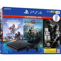 Consola Sony PS4 Slim 1TB + Horizon Zero Dawn + God Of War + The Last Of Us