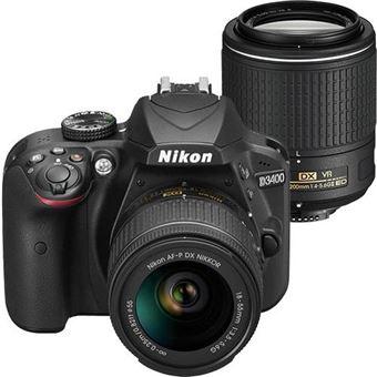 Nikon D3400 + AF-P DX 18-55mm f/3.5-5.6G + AF-S DX NIKKOR 55-200mm f/4-5.6G ED VR II