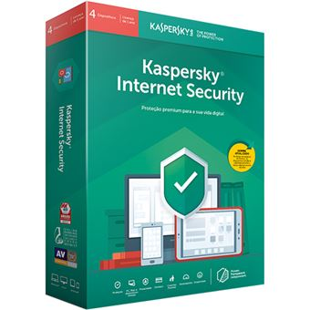 Antivírus Kaspersky Internet Security 2019 - 4 Dispositivos | 1 Ano