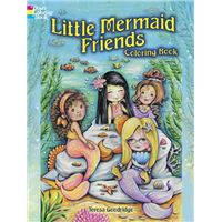 Little mermaid friends coloring boo