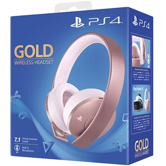 Auscultadores Wireless Sony para PS4 - Rose Gold