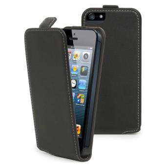 Muvit Bolsa Slim Preta para iPhone SE/5s/5