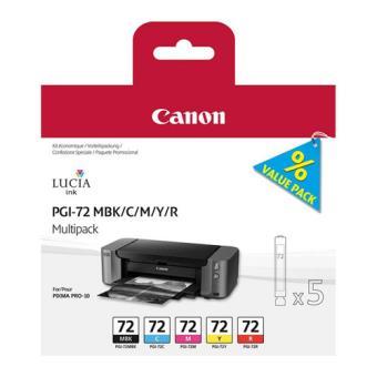 Canon Multi-Pack Tinteiros PGI-72  Preto Matte/Ciano/Magenta/Amarelo/Vermelho