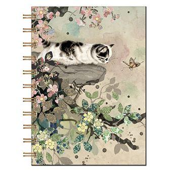 Livro de Notas Pautado em Espiral Bug Art - Gato - Beje, A5