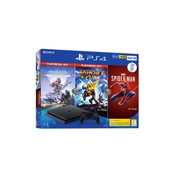 Consola Sony PS4 500GB + Horizon Zero Dawn Complete Ed. + Ratchet & Clank + Marvel's Spider-Man
