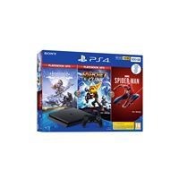Consola Sony PS4 500GB + Horizon Zero Dawn Complete Ed. + Ratchet & Clank + Marvel's Spider-Man