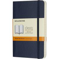 Caderno Pautado Moleskine Soft Bolso Azul Escuro