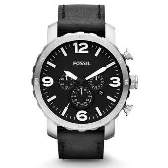 f13d0224c38 Fossil Relógio Nate Chronograph Leather Preto - Relógio - Compra na ...