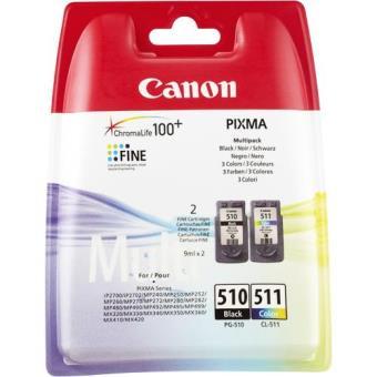 Canon Pack Tinteiros PG-510 Preto/CL-511 Cor