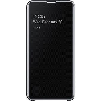 Capa Samsung Clear View para Galaxy S10e - Preto