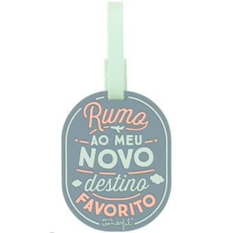 Etiqueta de Bagagem Mr. Wonderful - Rumo ao Meu Novo Destino Favorito