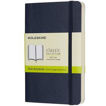 Caderno Liso Moleskine Soft Bolso Azul Escuro