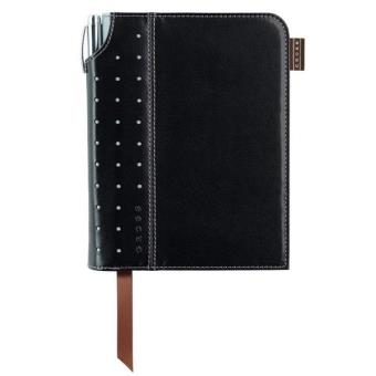 Caderno Pautado Cross Sign Pautado Pequeno Preto + Caneta