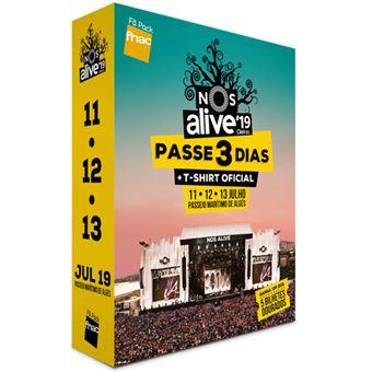 Fã Pack Fnac NOS Alive 2019 - Passe 3 Dias T-Shirt L - PREÇO: 149€ PACK + 11€ CUSTOS DE OPERAÇÃO