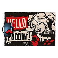 Tapete de Porta Harley Quinn: Hello Puddin'!