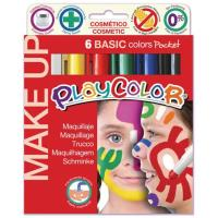 Conjunto 6 Lápis de Maquilhagem Infantil PlayColor - Cores Básicas