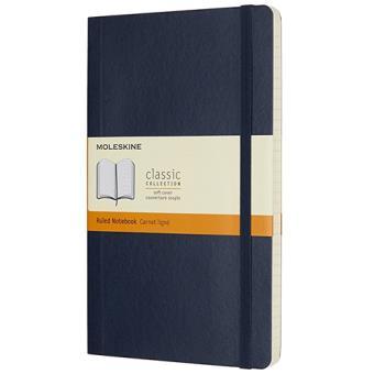 Caderno Pautado Moleskine Soft Grande Azul Escuro
