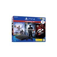 Consola Sony PS4 1TB + Horizon Zero Dawn Complete Ed.+ Uncharted 4: O Fim de um Ladrão + GT Sport