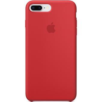 db7da4c802f27 Capa Silicone Apple para iPhone 8 Plus   7 Plus - Vermelho - Bolsa ...