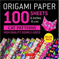 Origami paper 100 sheets cat patter
