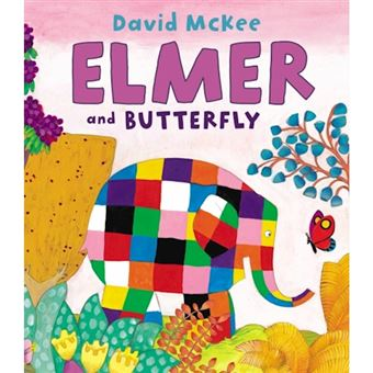 Elmer and butterfly
