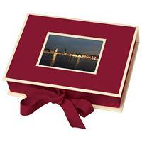 Caixa Para Fotografias Semikolon Pequena Burgundy