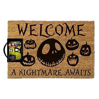 Tapete de Porta Nightmare Before Christmas: A Nightmare Awaits