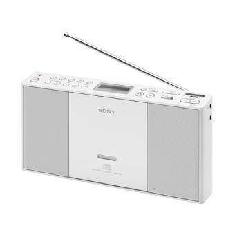 Sony ZS-PE60 Digital 2.2W Branco rádio CD