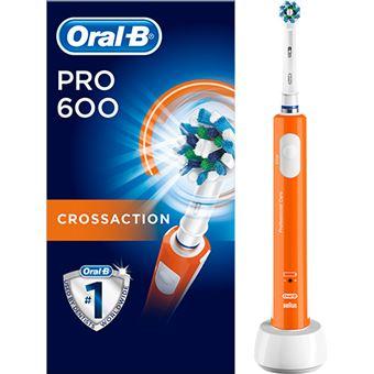 Escova de Dentes Elétrica Oral-b Pro 600 CrossAction - Laranja