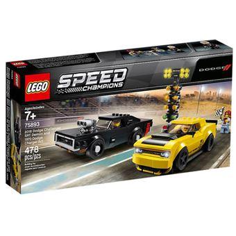 LEGO Speed Champions 75893 - 2018 Dodge Challenger SRT Demon e 1970 Dodge Charger R/T
