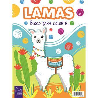 Bloco para Colorir - Lamas