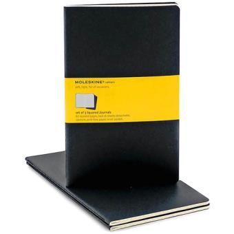Moleskine: Caderno Quadriculado Grande Preto