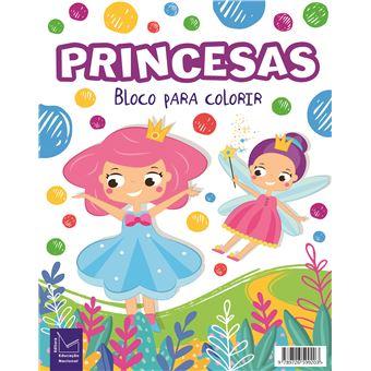 Bloco para Colorir - Princesas