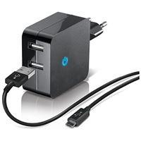 Carregador Temium Micro USB 2.1A - Preto