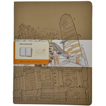 Caderno Pautado Moleskine Cahier - The Wandering City Grande - 2 Unidades