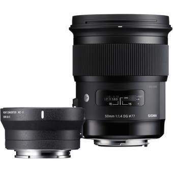 Sigma Objetiva 50mm f/1.4 DG HSM Art + Teleconversor MC-11 (Canon)