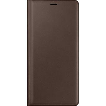 Capa Samsung Leather View para Galaxy Note9 - Castanho