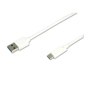 Cabo Temium USB-C para USB-A 1M - Branco