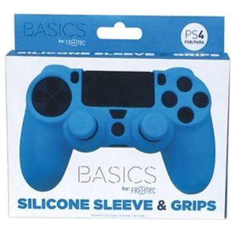 Protetor de Silicone + Grips Azul - PS4