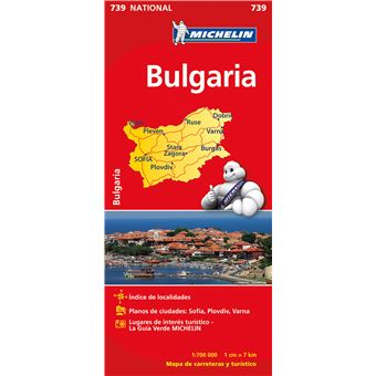 Mapa Michelin National 739 - Bulgária
