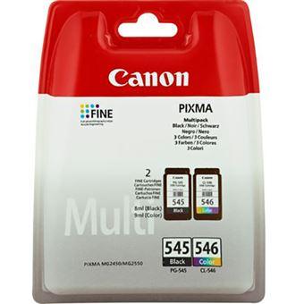 Tinteiro Multipack Canon PG-545 | CL-546 - Preto | Cores