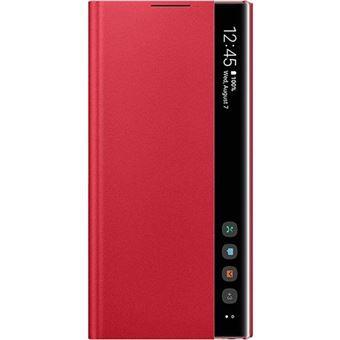 Capa Samsung Clear View para Galaxy Note10 - Vermelho