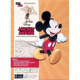 Incredibuilds: Arte em Madeira - Mickey Mouse