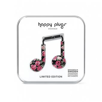 Auriculares Happy Plugs Earbud Plus - Vintage Roses