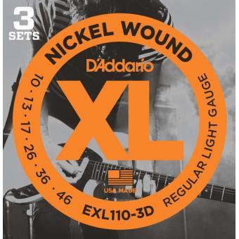 Jogo de Cordas para Guitarra Elétrica EXL110-3D 10-46 (3-Pack)