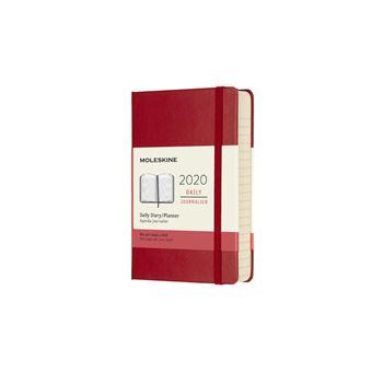 Agenda Diária 12 Meses 2020 Moleskine Bolso Vermelha