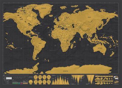mapa mundi raspar Mapa Mundo Para Raspar Grande Multicolorido   Deluxe Edition  mapa mundi raspar